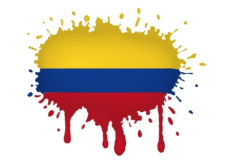 colombia flag: Colombia Illustration