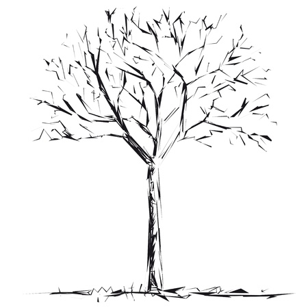 tree outline: Bare tree