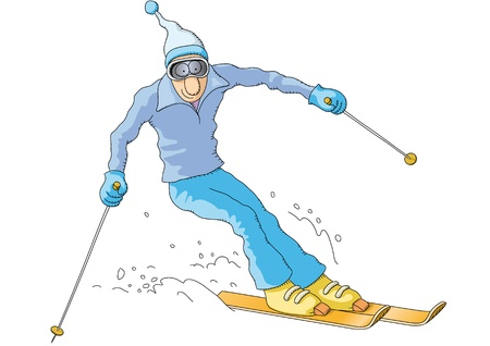 skier: skier