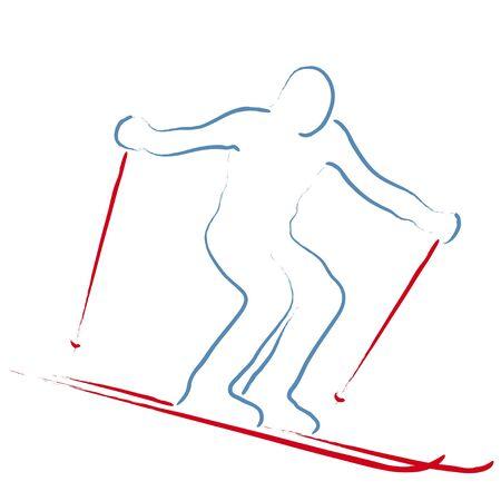 skier Stock Vector - 12479841