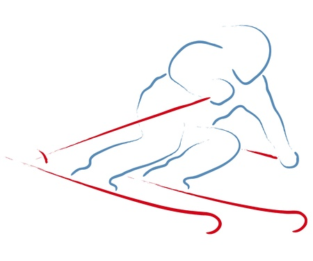スキーヤー  イラスト・ベクター素材