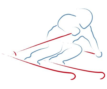narciarz: narciarz Ilustracja
