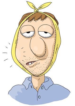 dientes caricatura: dolor de muelas