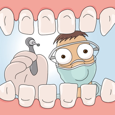 drill: dentist Illustration