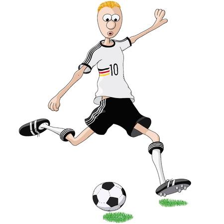 futbol soccer dibujos: el futbolista alemán