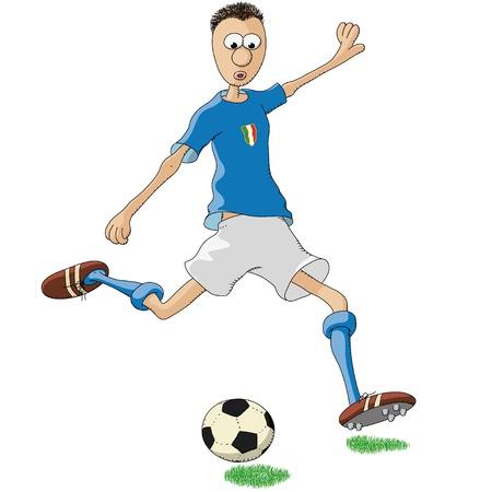 soccer shoe: italian soccer player Illustration