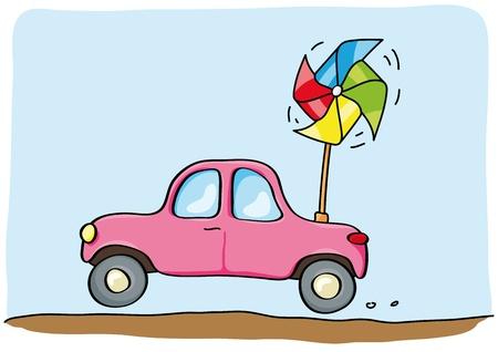 alternatively: alternative car Illustration