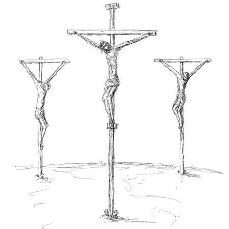 kruisiging Vector Illustratie