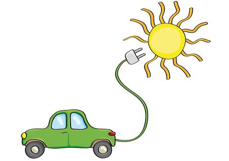 energy conservation: Alternatively car Illustration