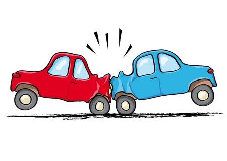 車の事故  イラスト・ベクター素材