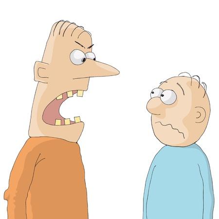 abusing: enojado Vectores