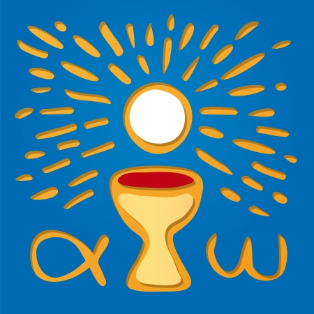 sacrament: Host and chalice