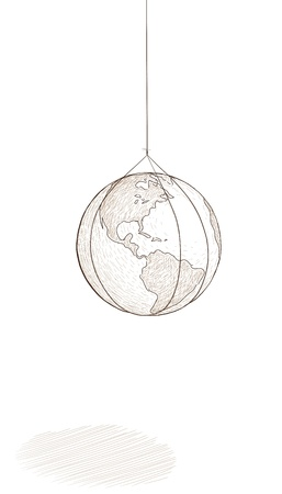 world hung Stock Vector - 13707592
