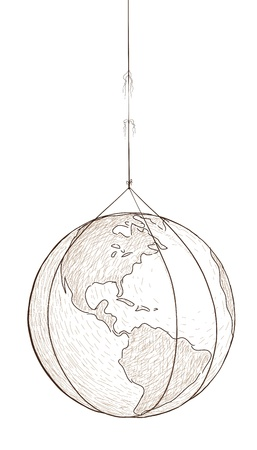world hung Stock Vector - 13707593