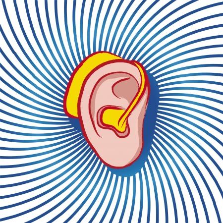 hearing aid Stock Vector - 14851373