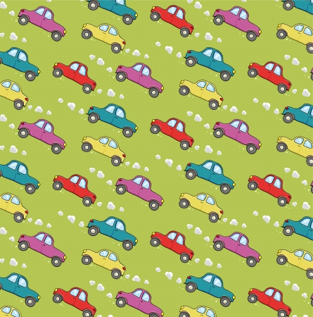 car pollution: pattern with cars Illustration