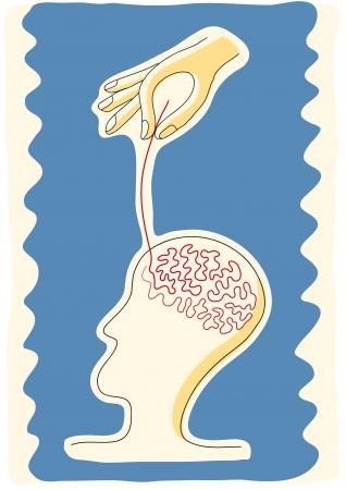 influence: manipulate ideas Illustration