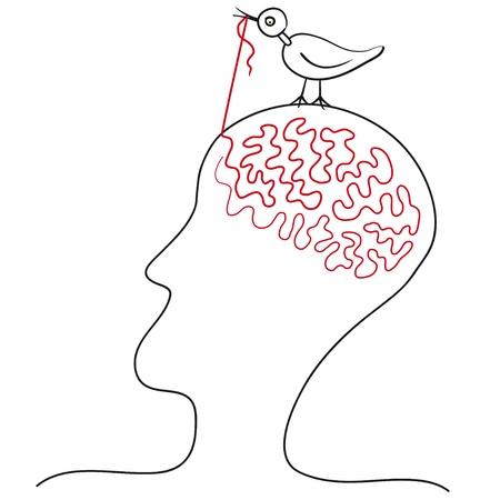 bird pecks ideas  イラスト・ベクター素材