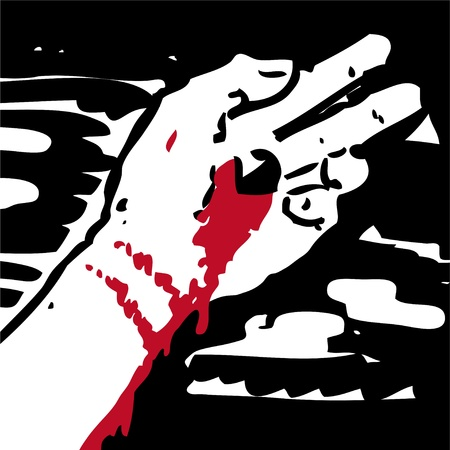 nails art: Jesus  hand