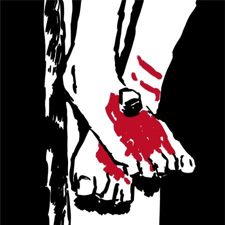 salvation: Jesus  feet