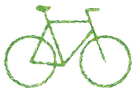 green bicycle Stock Vector - 16892314