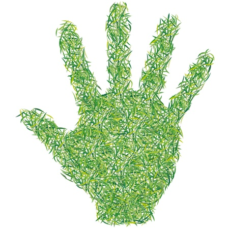 greening nature natural: green hand Illustration