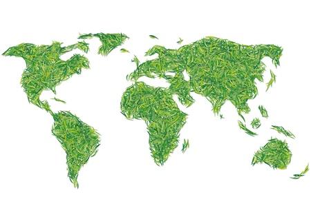 greening nature natural: world of grass Illustration