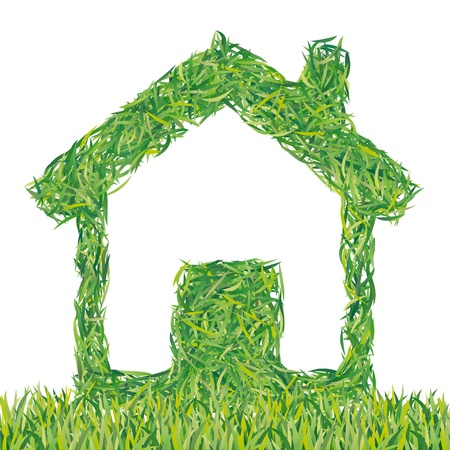greening nature natural: ecological house Illustration