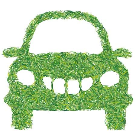 greening nature natural: auto grass Illustration