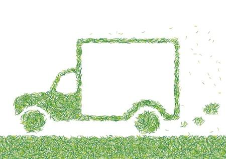 greening nature natural: van grass