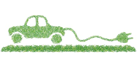 carpet clean: electric car Illustration