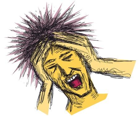 senseless: stressed man