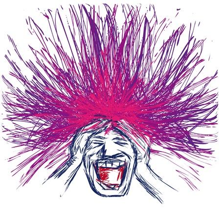 gestresste Menschen Vektorgrafik