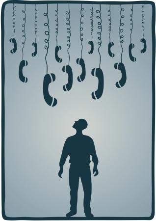transmit: phones Illustration