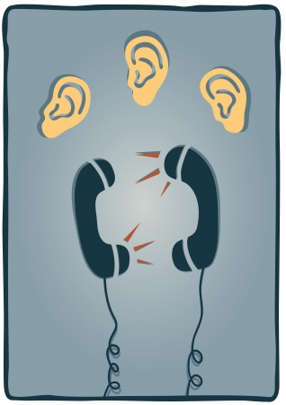 spying: phones Illustration