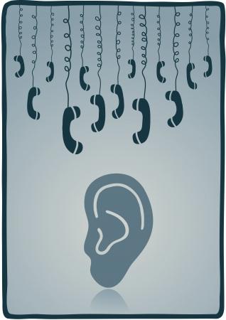 wiretapping: phones Illustration