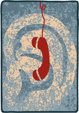 spying: phone Illustration