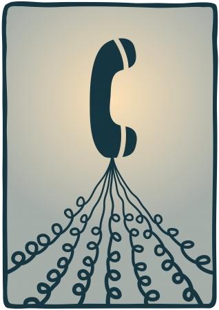 telephone lines Stock Vector - 18216948