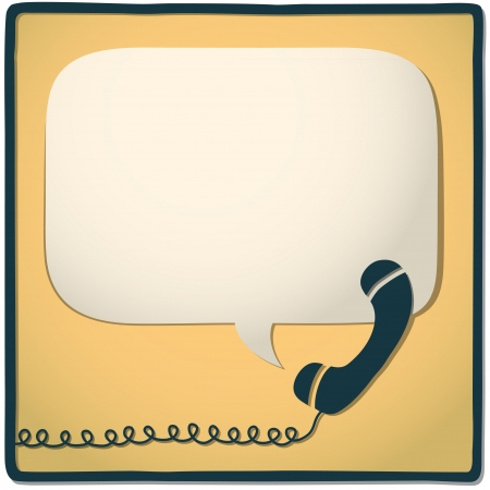 telephone cable: phone Illustration