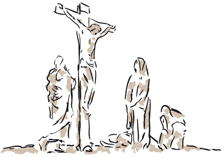 crucifixion Vettoriali