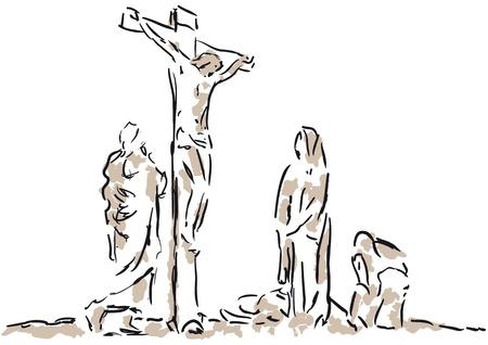 espiritu santo: crucifixión Vectores