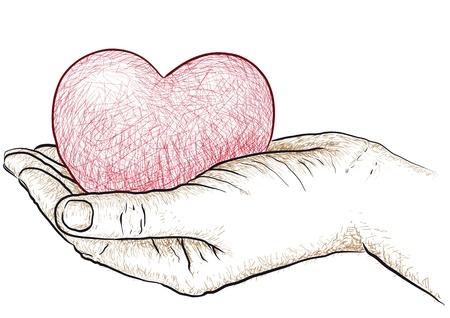 bondad: corazón en la mano