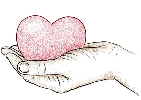 goodness: heart in hand Illustration