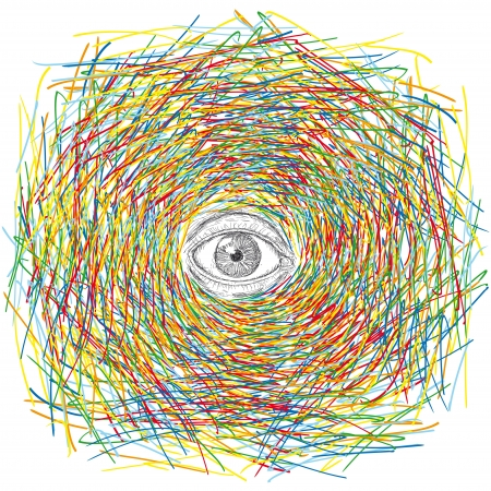 examine: psychedelic eye Illustration