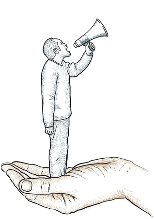 scold: man with the megaphone Illustration