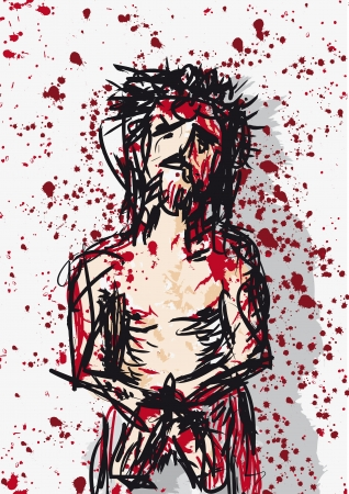 crown of thorns: here is the man Illustration