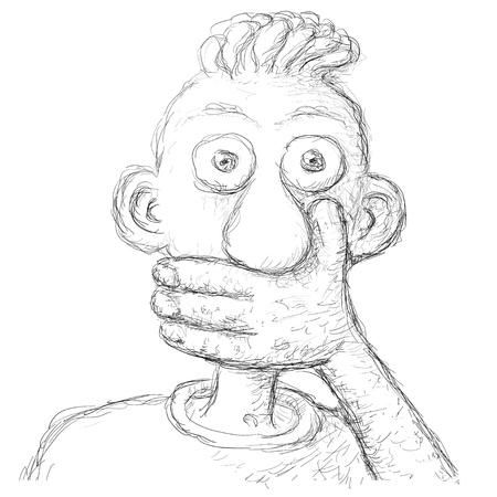 grimace: shut up