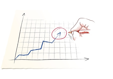 hand draws a graph Stock Vector - 20692958