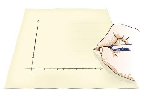 hand draws a graph Stock Vector - 20932533