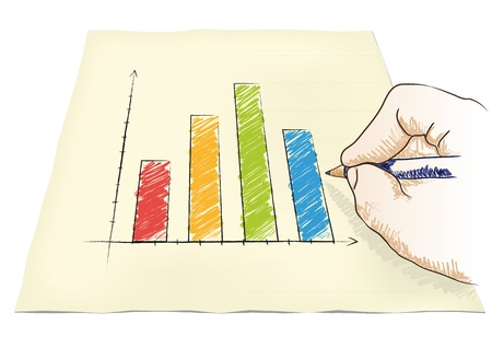 hand draws a graph Stock Vector - 20932534